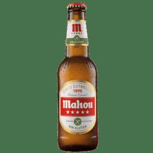 Cerveza Mahou Cinco Estrellas Sin Gluten, botellas