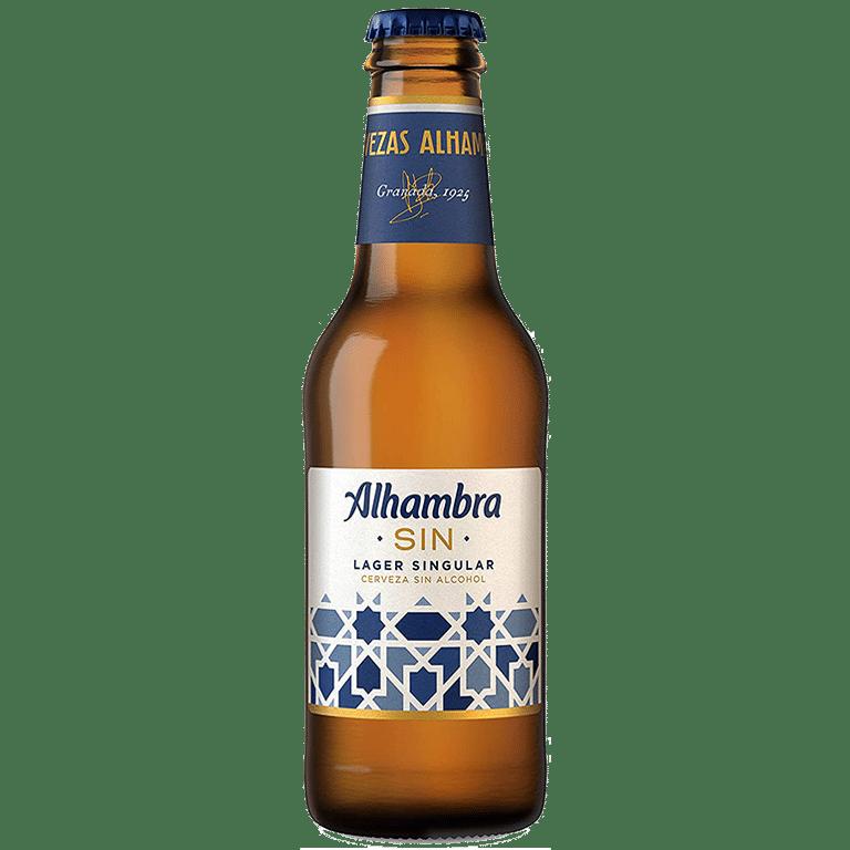Alhambra Sin Alcohol, Lager Singular, botella