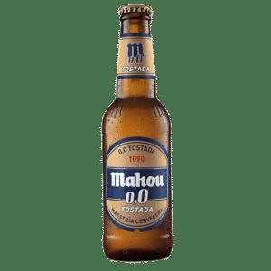 botella de cerveza, Mahou 0,0 Tostada
